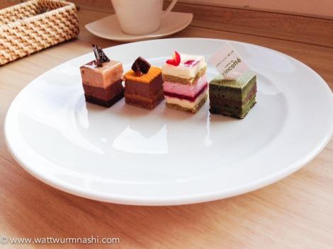 tasting set: Chocolat3, Totoropi, Framblanc, Opéra matcha