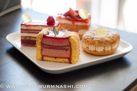 Raspberry cake, raspberry Charlotte, Ichigo, Paris-Brest