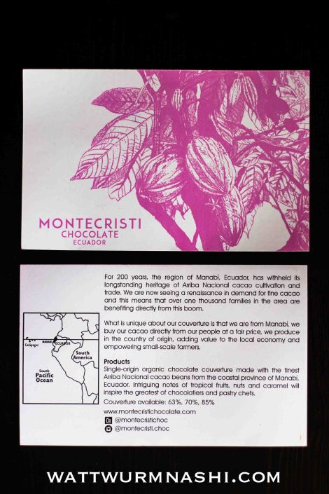 Montecristi Chocolate flyer